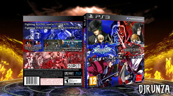 Blazblue VS GuiltyGear: The Blazing Gears box art cover