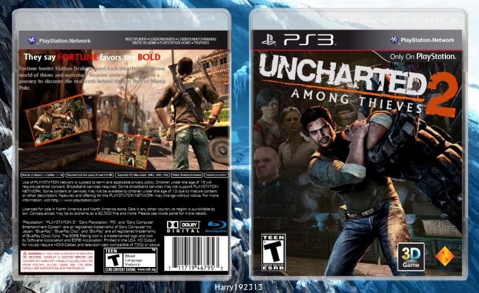 Uncharted 2 Among Thieves Playstation 3 Box Art Cover By Harry192313
