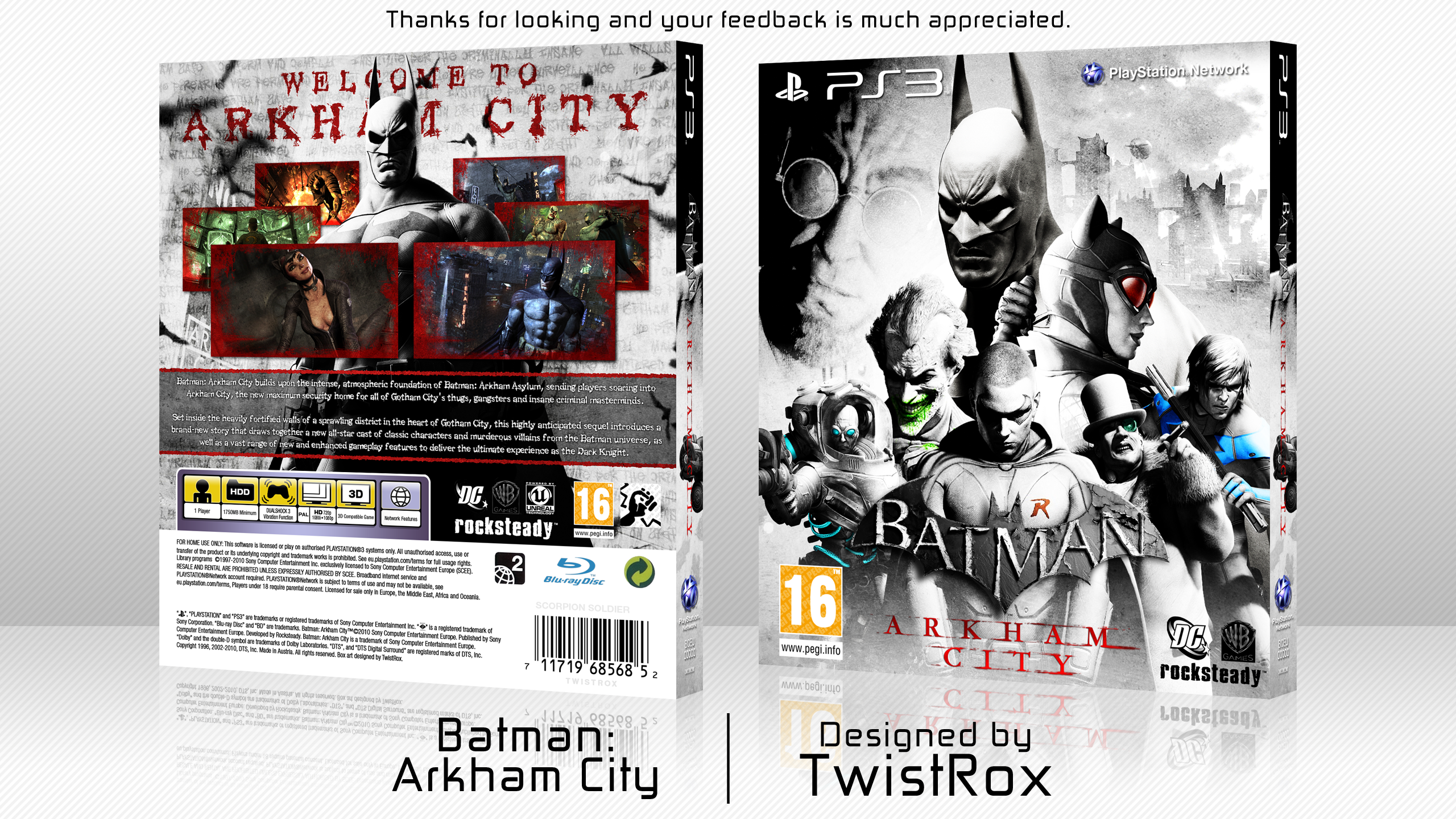 Batman: Arkham City box cover