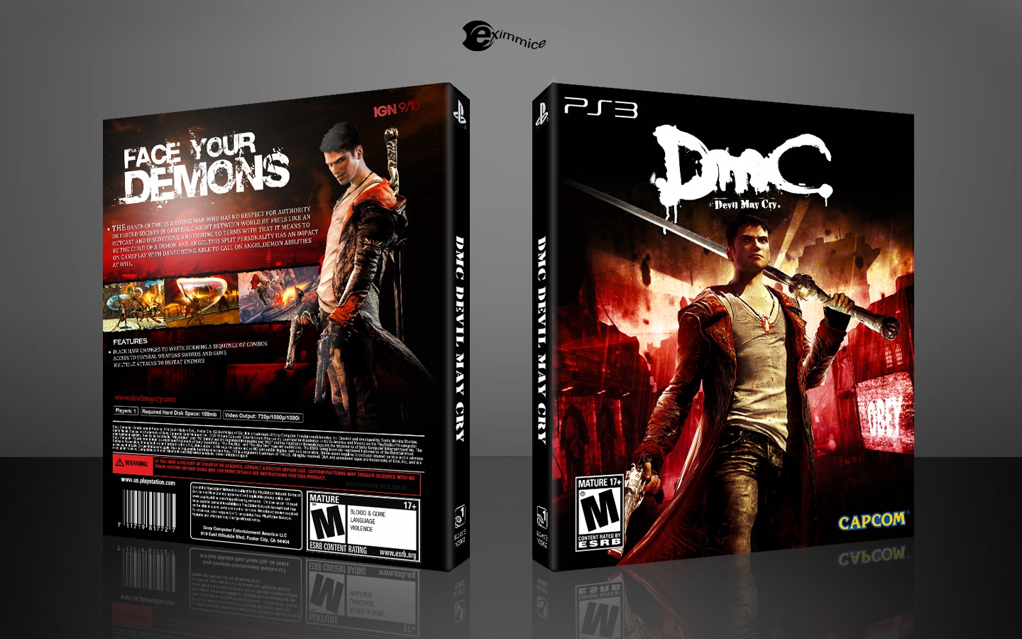 DmC: Devil May Cry box cover