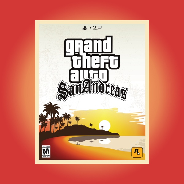 Grand Theft Auto San Andreas box art cover