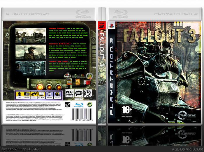 Fallout 3 box art cover