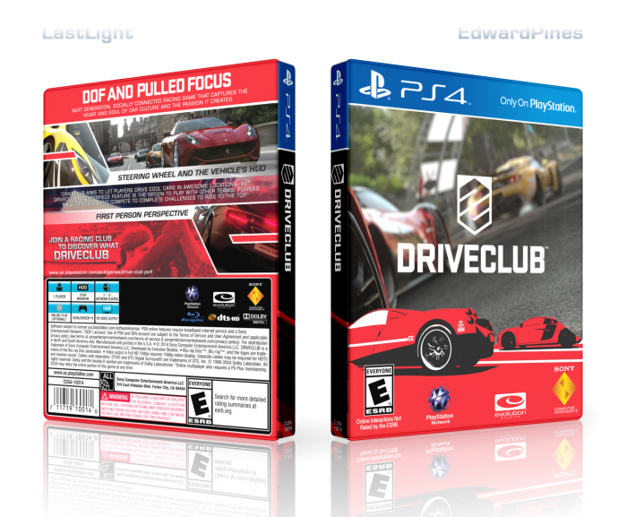 DriveClub box art cover
