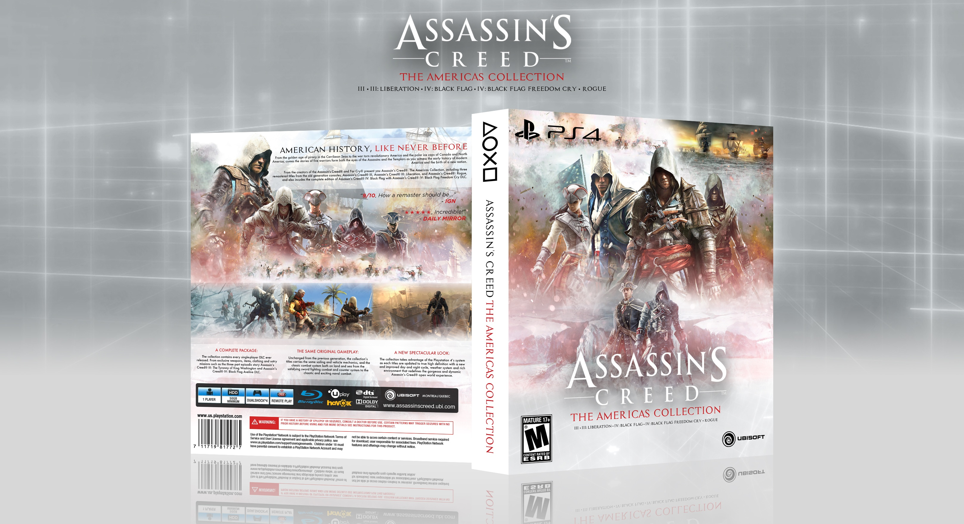 Assassin S Creed The Americas Collection Playstation 4 Box Art