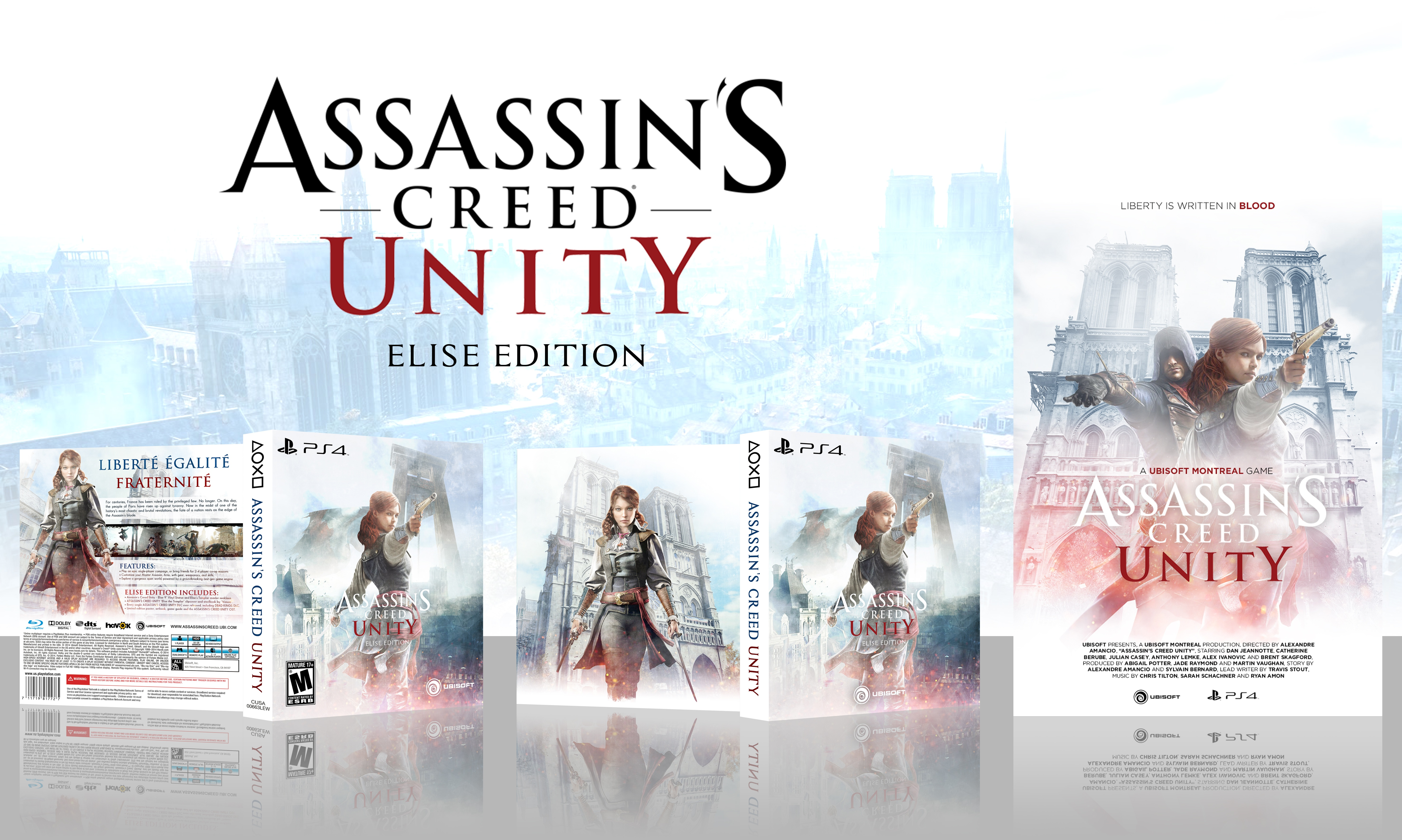 Assassin S Creed Unity Elise Edition Playstation 4 Box Art Cover