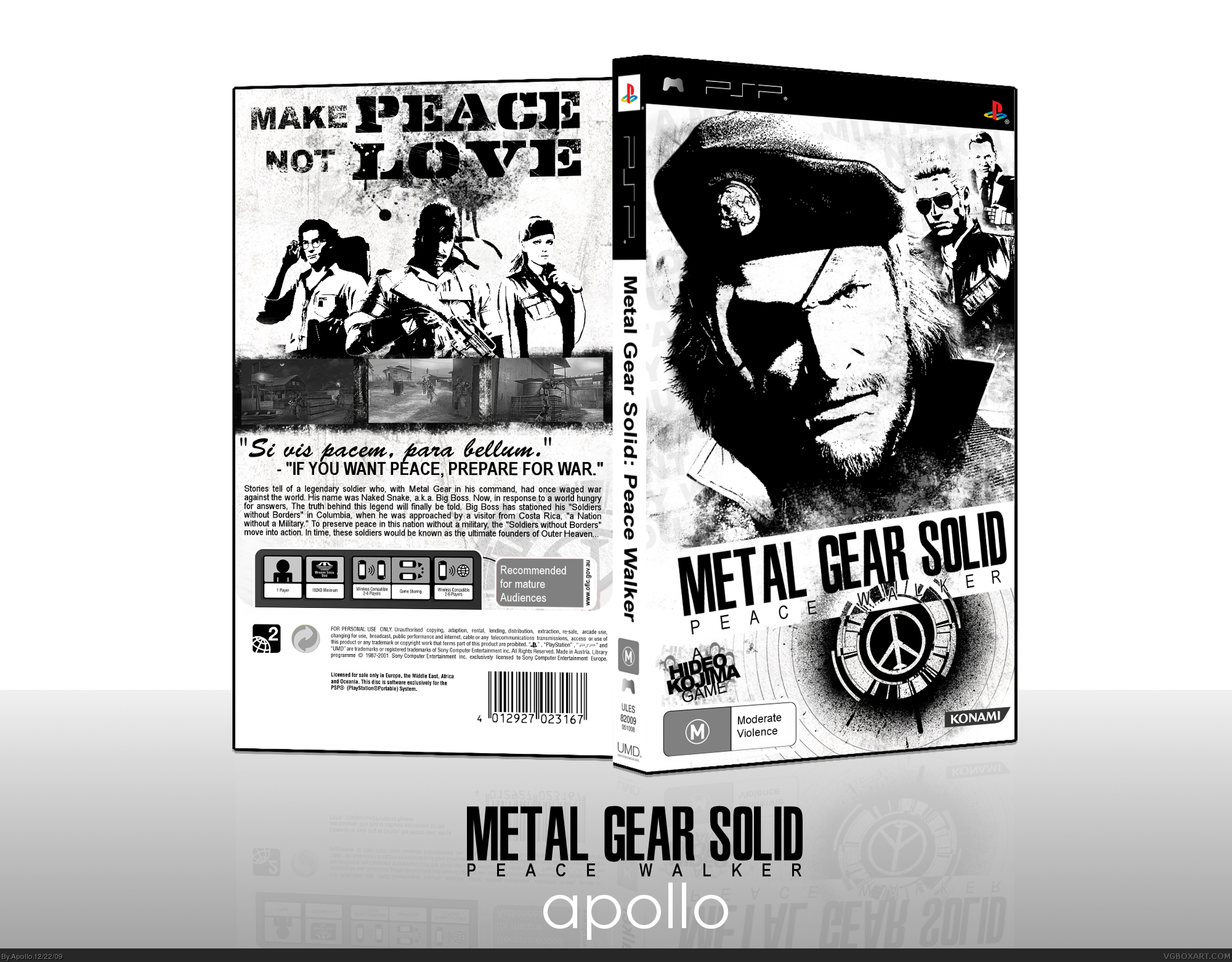 Metal Gear Solid: Peace Walker box cover