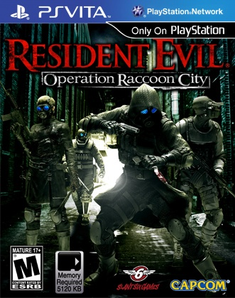 Resident Evil Operation Racoon City: PSvita box cover