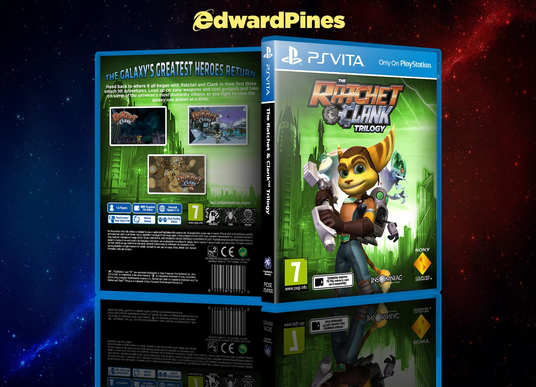 The Ratchet & Clank Trilogy box cover