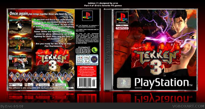 Tekken 3 Playstation Box Art Cover By Ervo