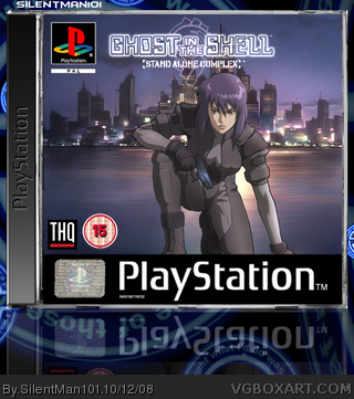 Ghost In The Shell Playstation Box Art Cover By Silentman101