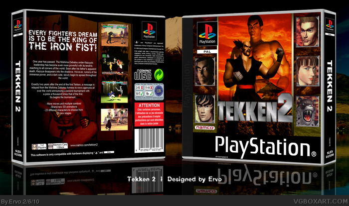 Tekken 2 box art cover