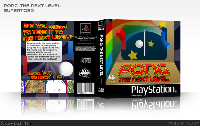 Pong: The Next Level box art cover