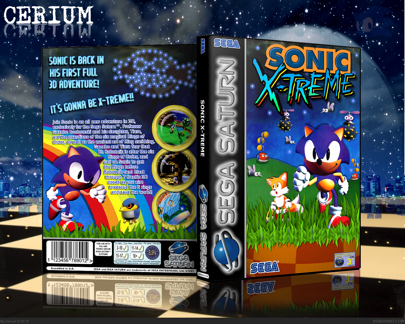 Sonic X-Treme box cover