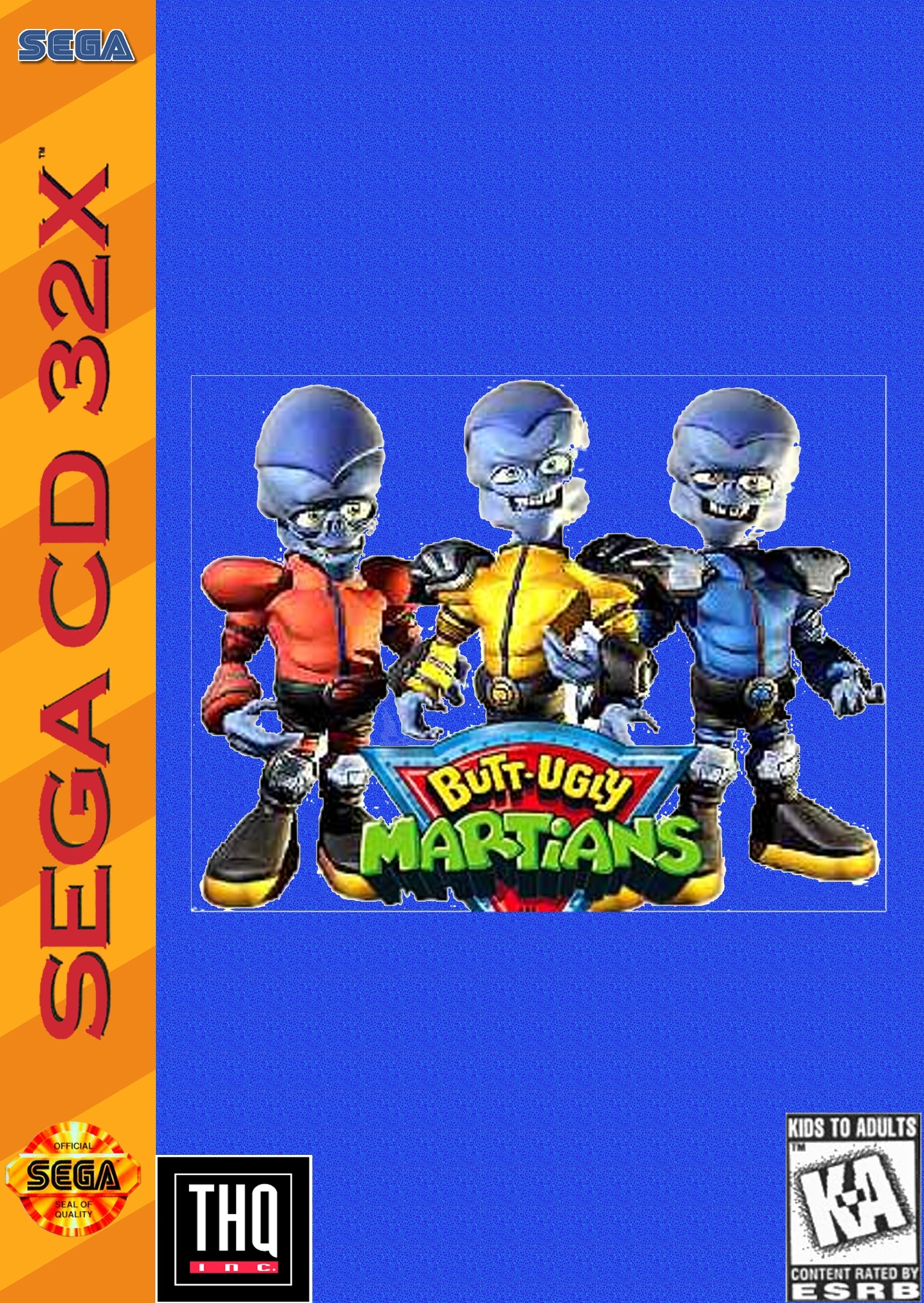 Butt Ugly Martians (32X) box cover