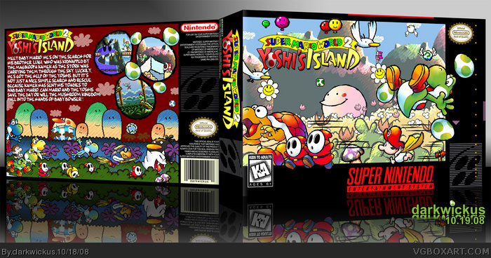 Super Mario World 2: Yoshi's Island box art cover