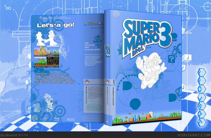 Super Mario Bros 3 box art cover