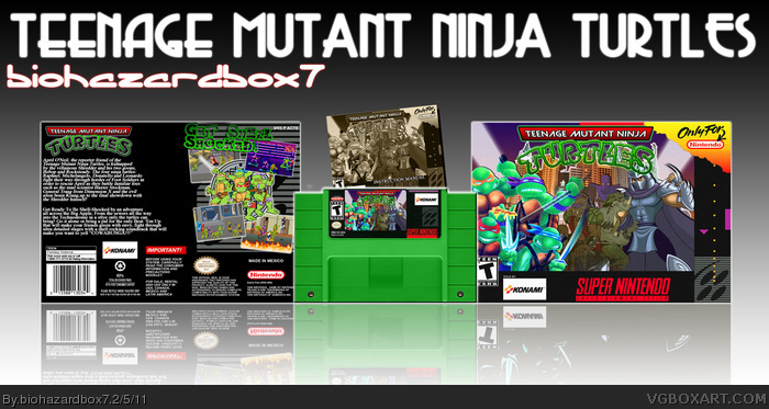 Teenage Mutant Ninja Turtles box art cover