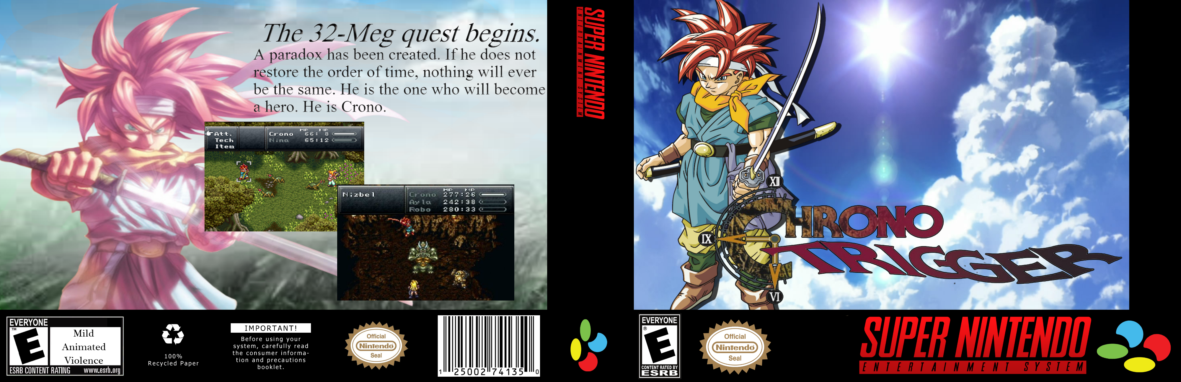 Chrono Trigger box cover