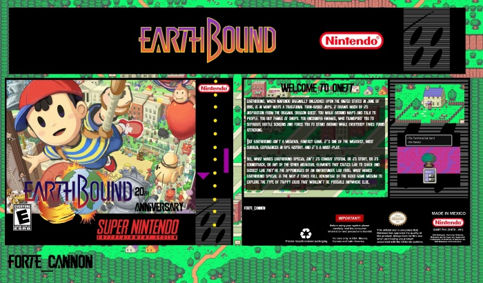 Earthbound SNES Box Art Cover by Forte_Cannon
