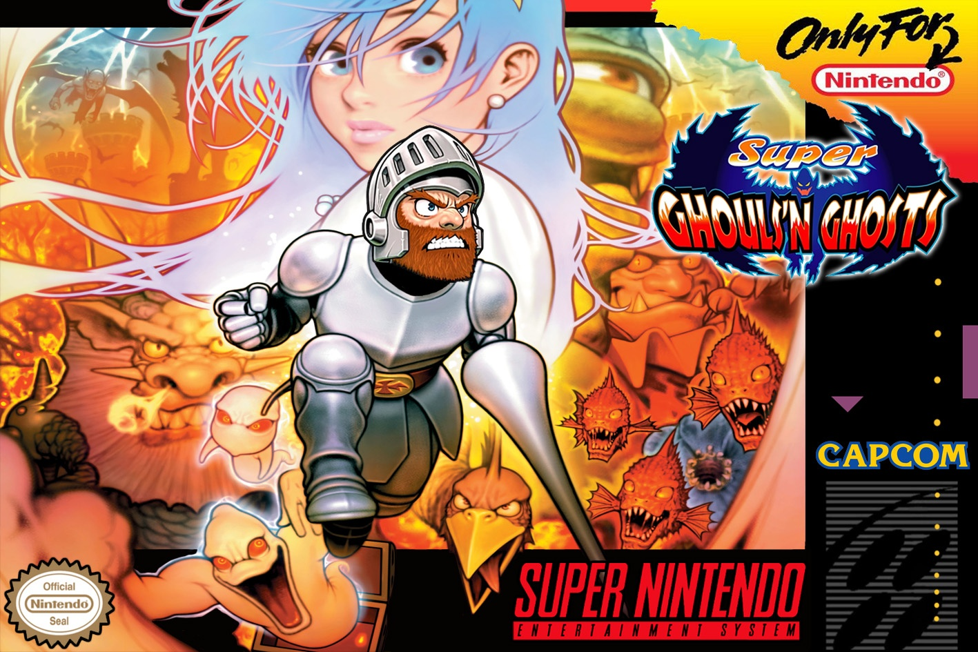 Super Ghouls 'n Ghosts box cover