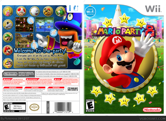 Mario Party 8 box art cover