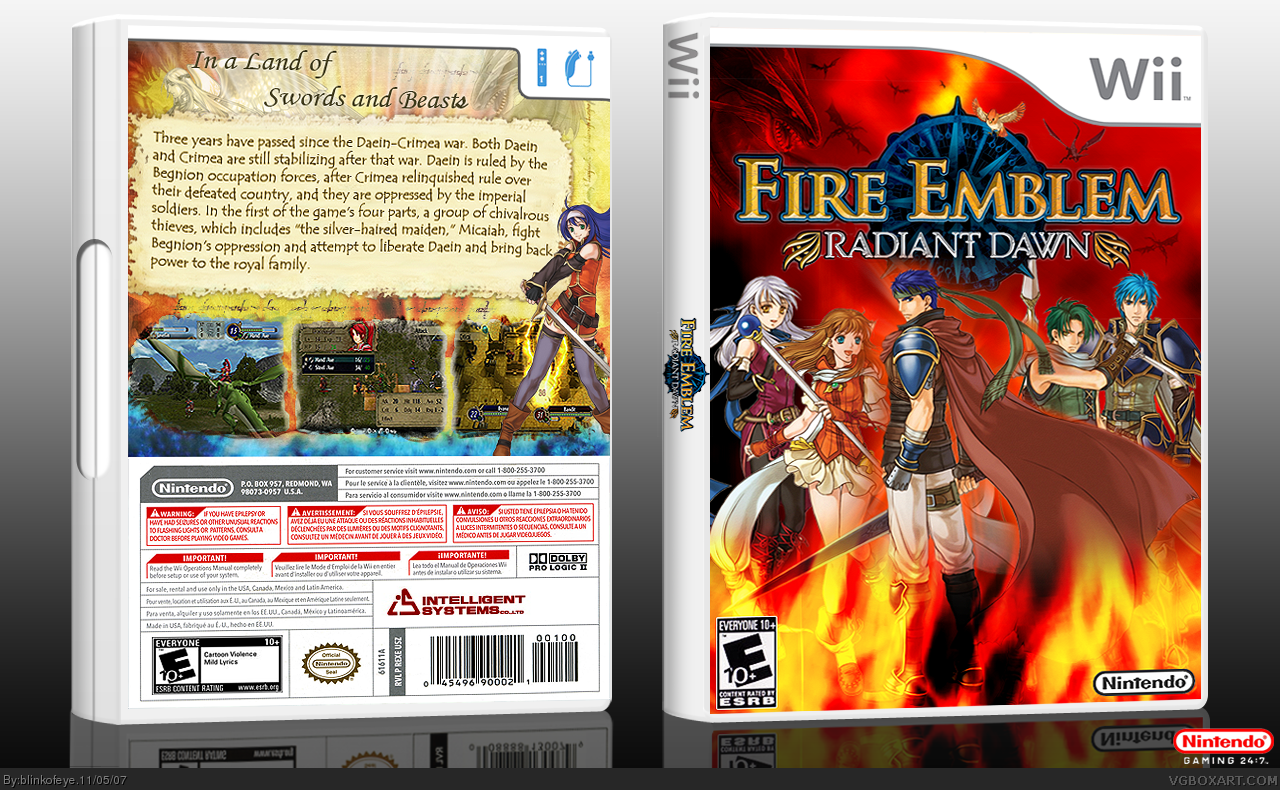Fire Emblem: Radiant Dawn box cover