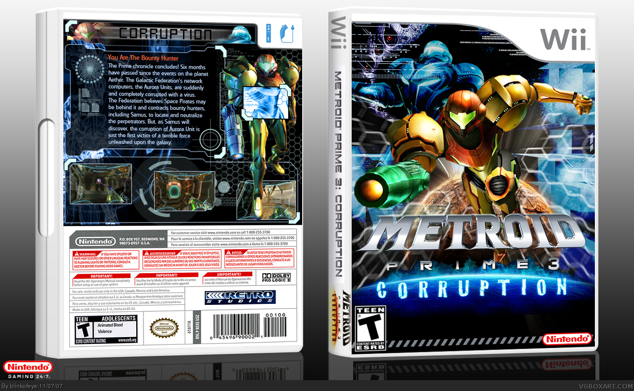 Metroid Prime 3: Corruption box cover