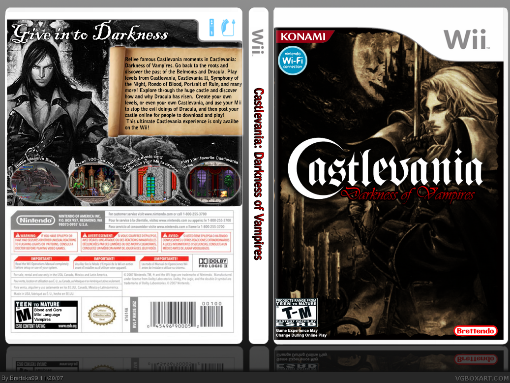 Castlevania: Darkness of Vampires box cover