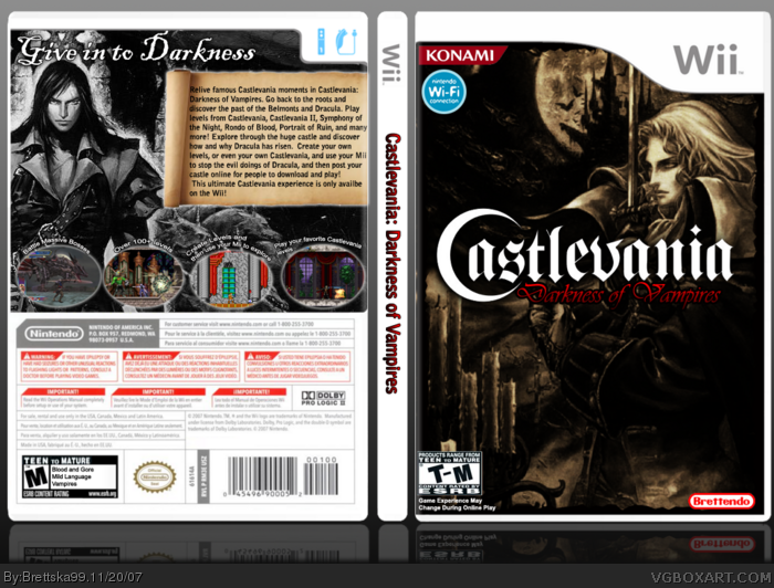 Castlevania: Darkness of Vampires box art cover
