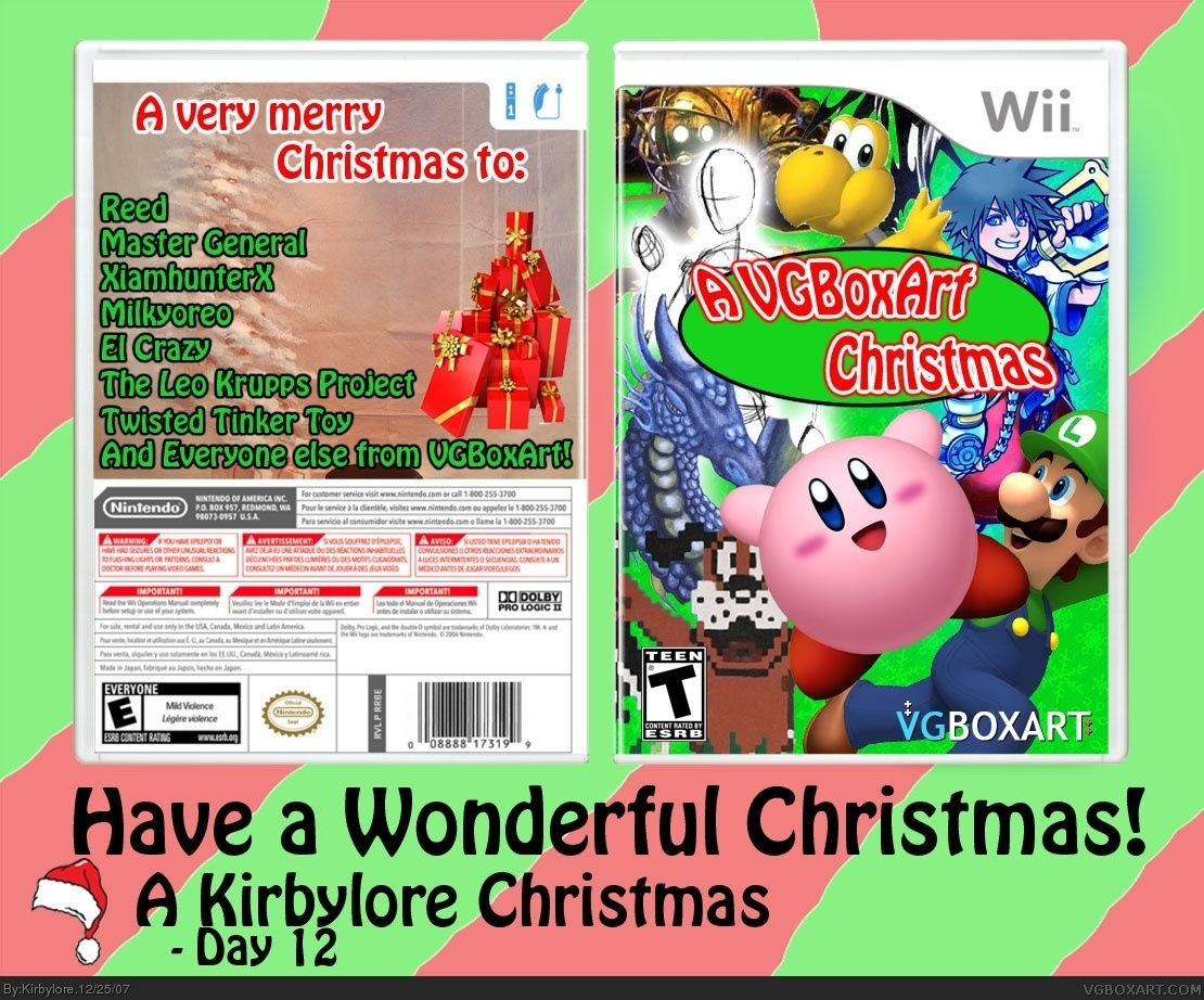 A VG Boxart Christmas (Christmas Card) box cover