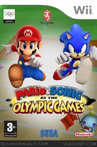 Mario & Sonic: At The Olympic Games box cover