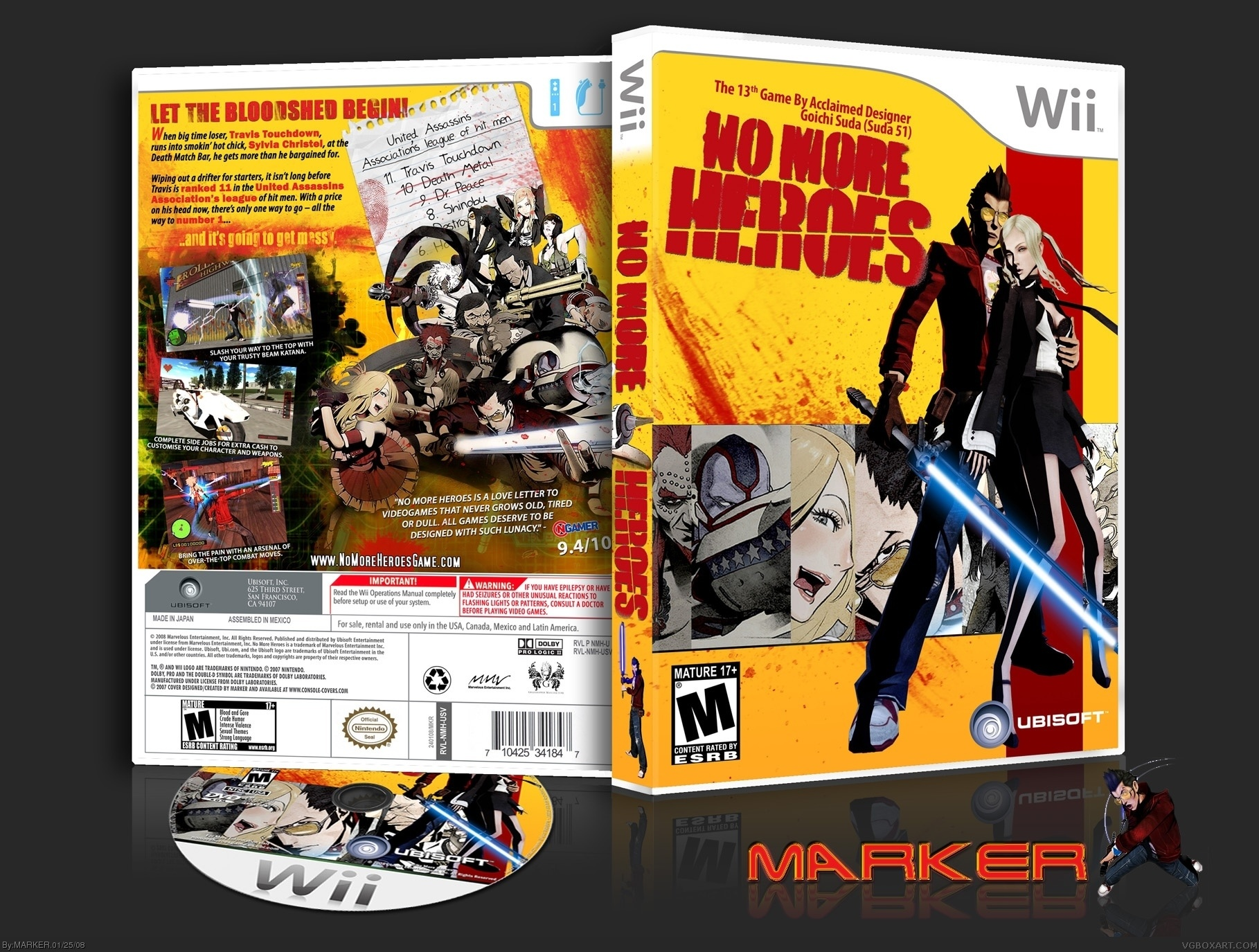 No More Heroes box cover