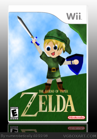 The Legend of Paper Zelda box cover