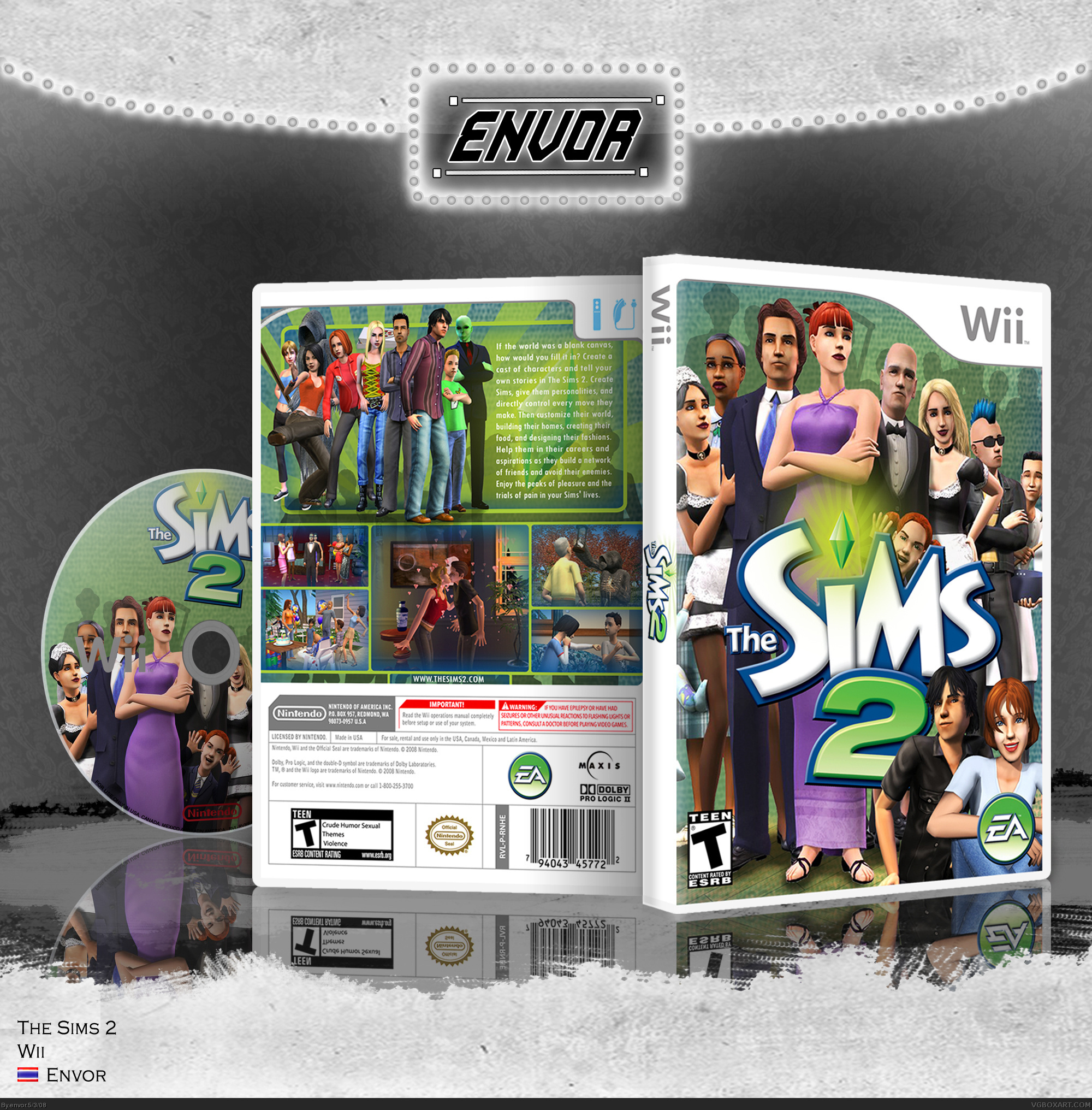 The Sims 2 box cover