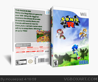 Sonic R box cover