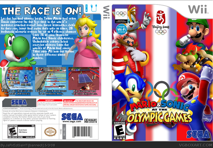Mario and Sonic At The Olypic Games box art cover