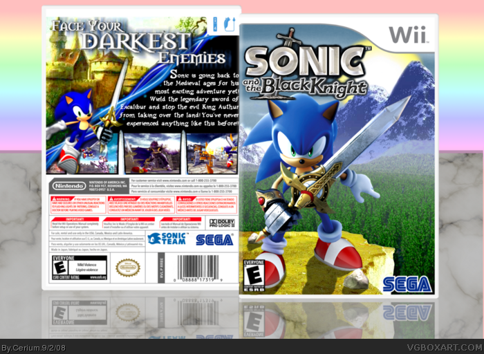 Sonic and the Black Knight box art cover