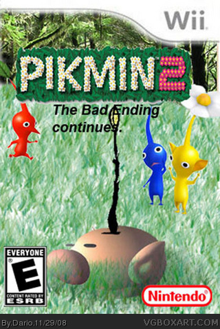 Pikmin 2 The Bad Ending Continues Wii Box Art Cover By Dario