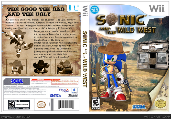 Sonic and the Wild West box art cover