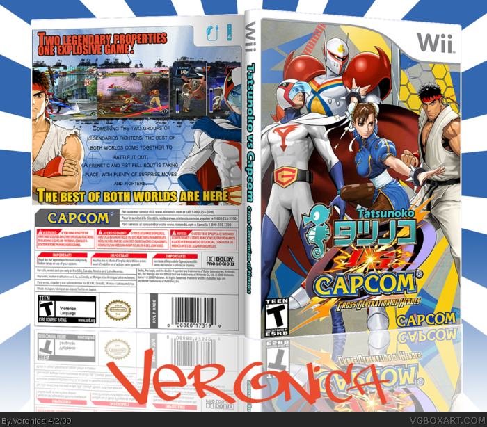 Tatsunoko vs Capcom  Cross Generation of Heroes box art cover