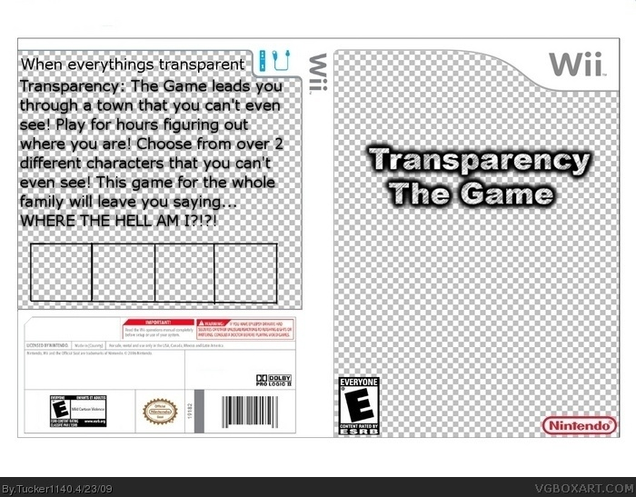 Transparency: The Game box art cover