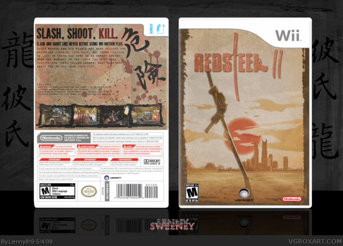 Red Steel ll box art cover