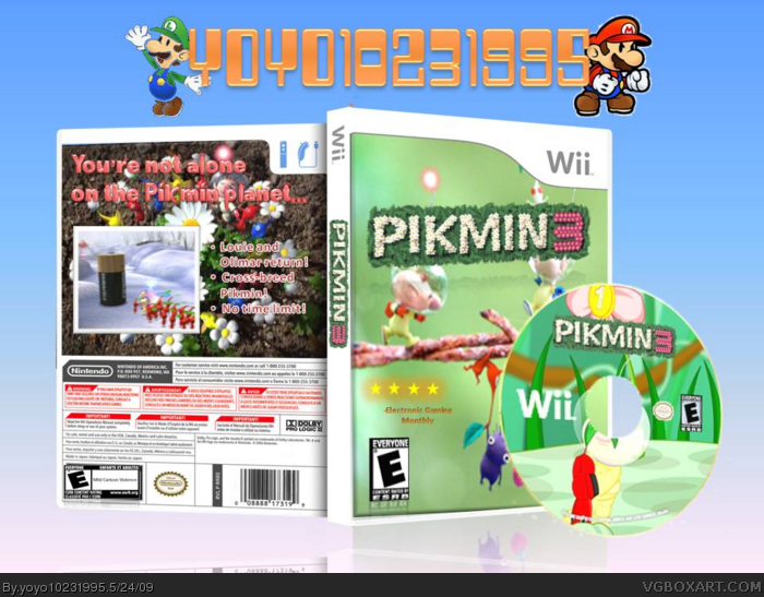 Pikmin 3 Wii Box Art Cover By Yoyo10231995