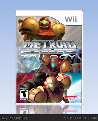 Metroid Prime Trilogy box cover