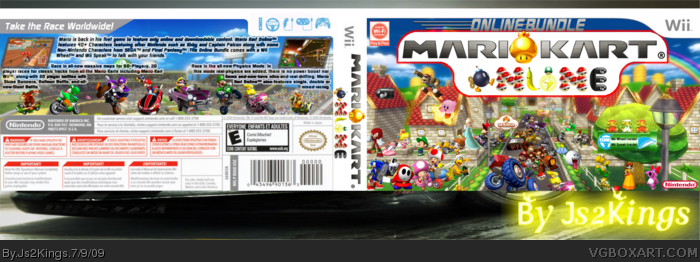 Mario Kart Online box art cover
