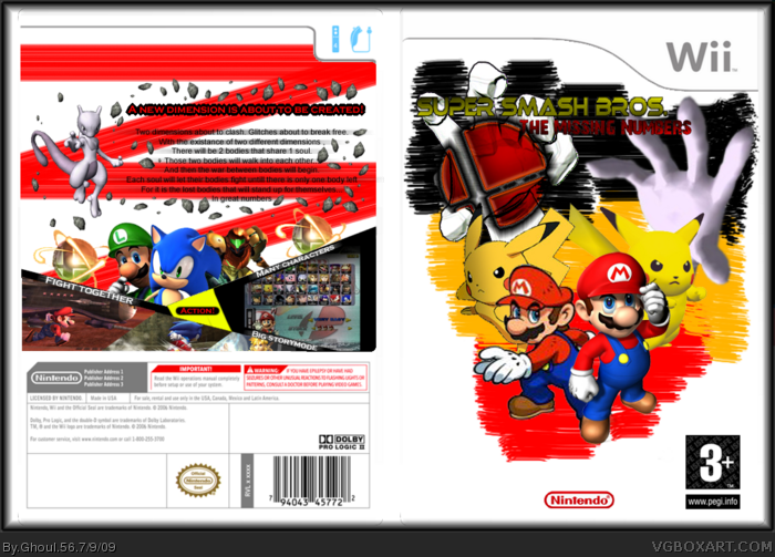 Super Smash Bros. - The Missing Numbers box art cover