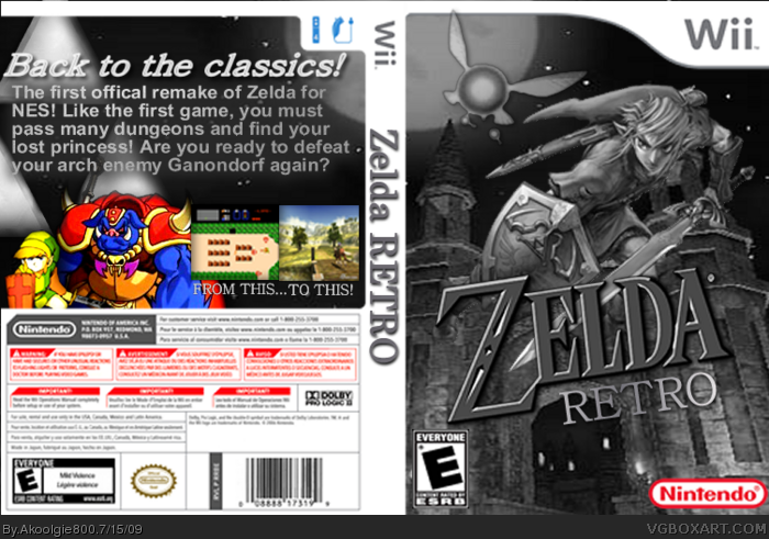 Zelda box art cover