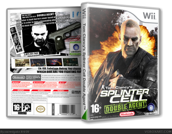 Splinter Cell: Double Agent box art cover