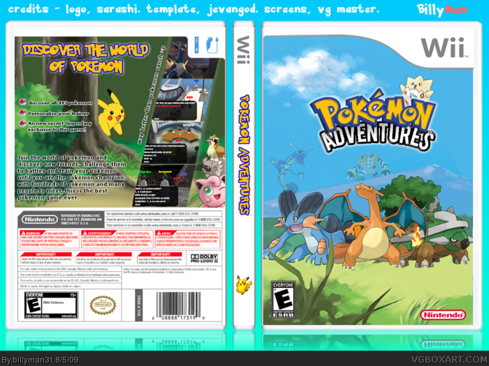 Pokemon: Adventures box art cover