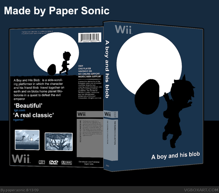 A Boy and his Blob box art cover